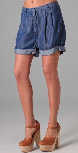 auris 格子花纹短裤