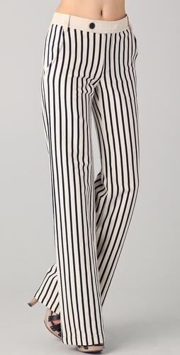 lam 条纹阔腿裤 shopbop
