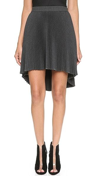 褶皱半身裙