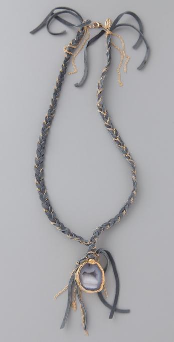 gara danielle 编织熏黑项链