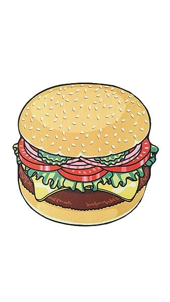 汉堡的简笔画有颜色