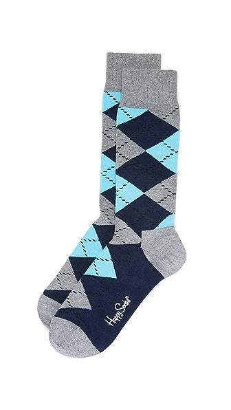 菱形花纹袜子