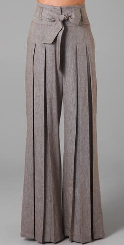 交染阔腿裤|shopbop
