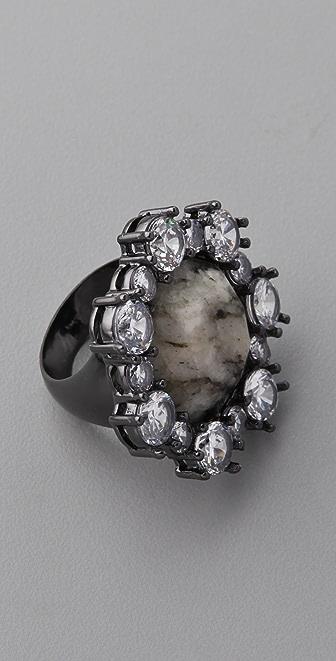 大理石花纹鸡尾酒戒指