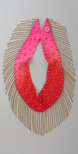 charo 带流苏的串珠项链