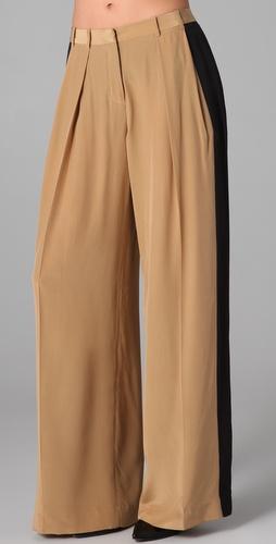 色阔腿裤|shopbop