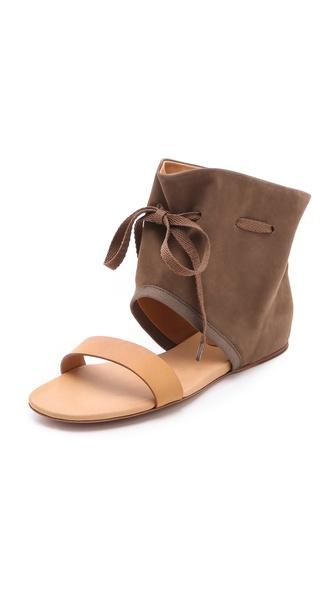 短靴式平底凉鞋