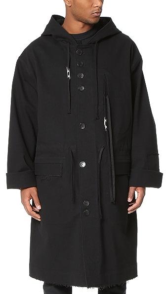 手绘大衣背面款式图