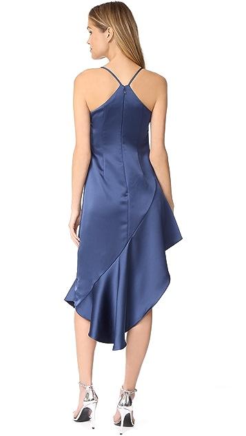 不对称连衣裙