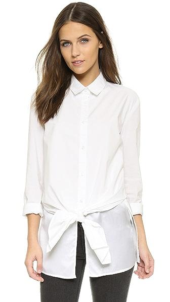 长袖和钮扣袖口.缎面衬里前幅. 面料: 衬衣面料. 表层: 100% 棉.