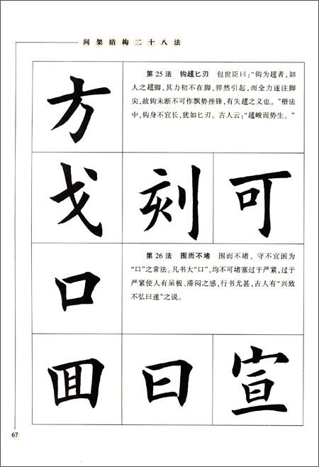 田英章最新书法专业教程:欧体毛笔楷书字帖