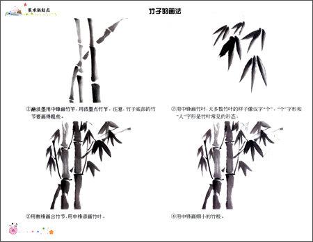熊猫竹子彩笔画