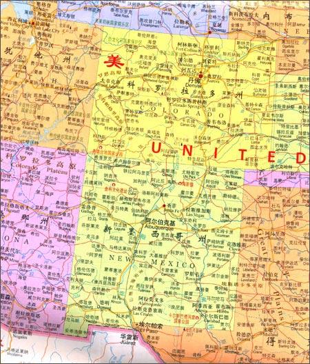 世界分国地图:美国