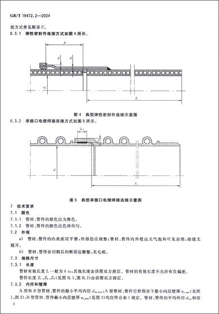 埋地用聚乙烯(pe)结构壁管道系统(第2部分):聚乙烯缠绕结构壁管材(gb
