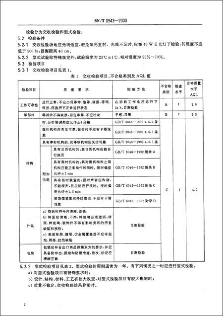 回至 进出口指针式石英钟检验规程(sn/t 0943-2000) (平装)