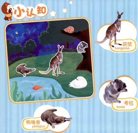 魔法早教魔法盒子智趣磁贴:动物庄园(30个可爱动物磁贴 8幅创意背景)