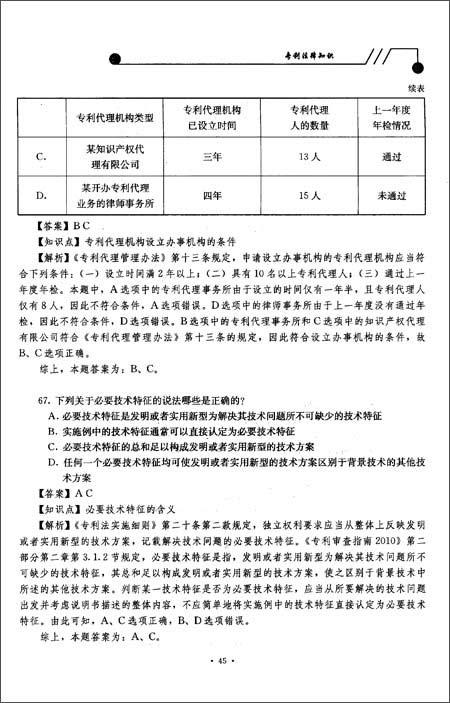 2011年全国专利代理人资格考试试题解析