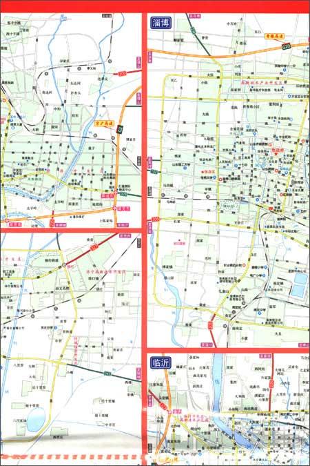 山东省军民两用交通图(纸图套封)/星球地图出版社
