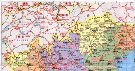 米其林世界分国目的地系列地图:意大利旅游地图