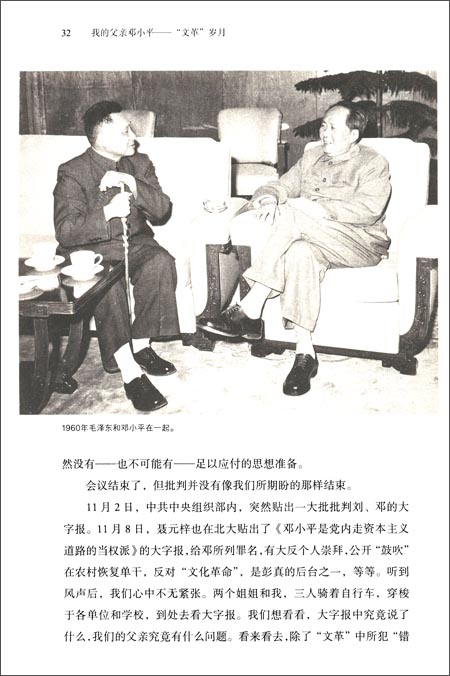 """我的父亲邓小平:""""文革""""岁月"""