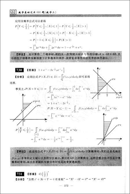 金榜图书•金榜考研系列丛书•数学篇:全国硕士生入学统一考试数学基础过关660题
