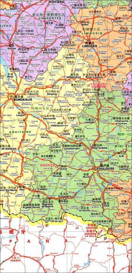 米其林世界分国目的地系列地图:法国旅游地图