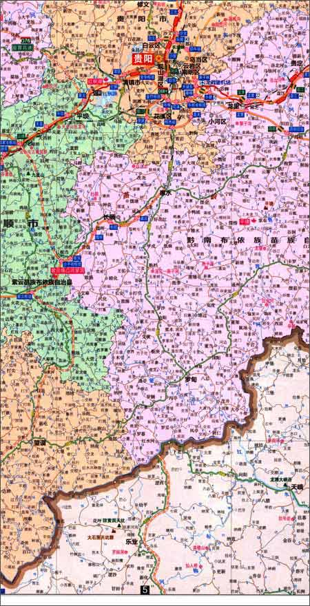 贵州省交通旅游图