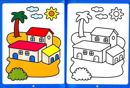 幼儿园阶梯涂色:小班(上学期)图片