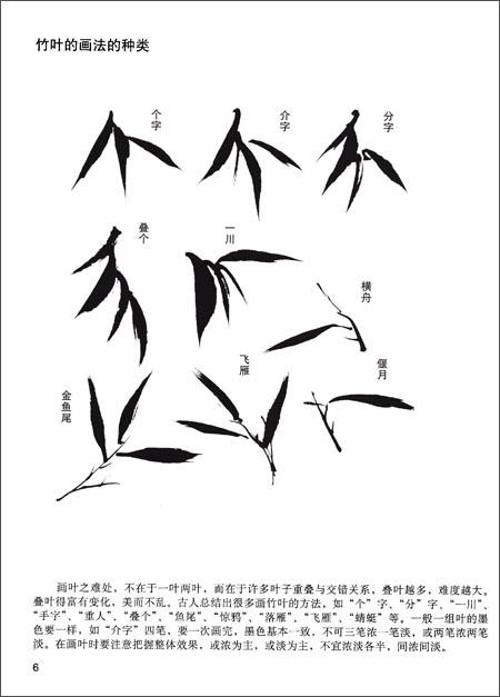 画竹子其实也很简单,只要一笔一笔把一节一节竹竿画出来,再添上竹叶就