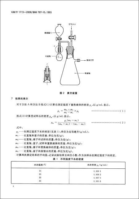 中华人民共和国国家标准:颜料密度的测定比重