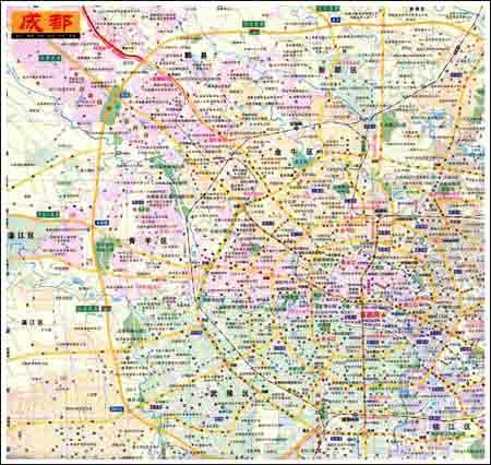 四川省旅游交通图