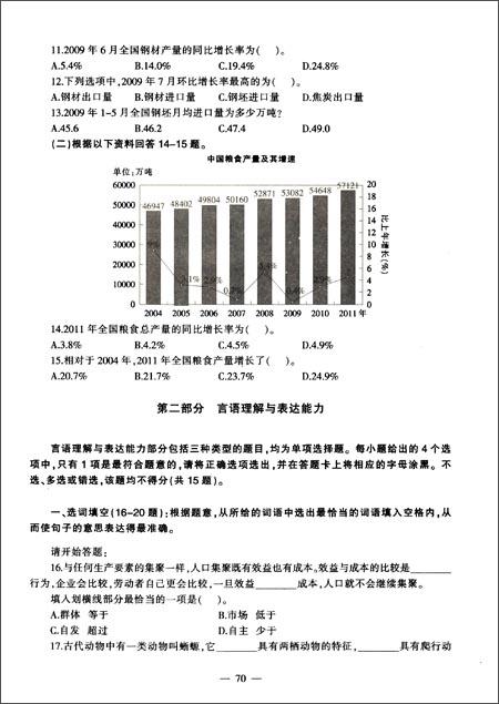 中公教育•上海市事业单位公开招聘工作人员考试专用教材:基本素质测验历年真题+全真模拟预测试卷
