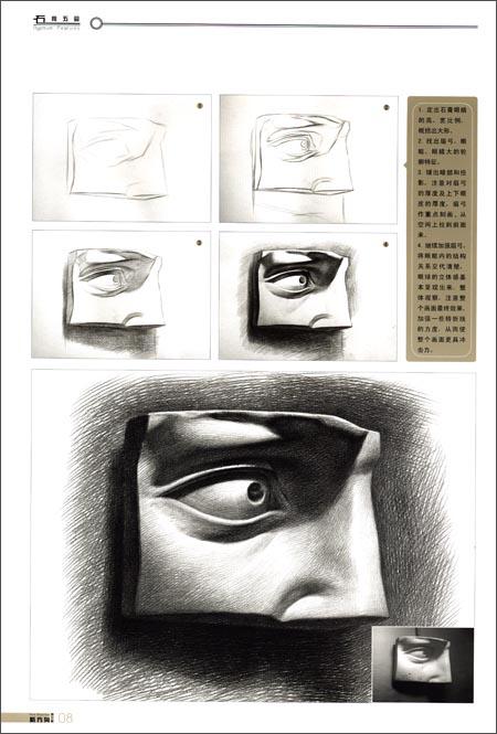石膏素描结构嘴巴