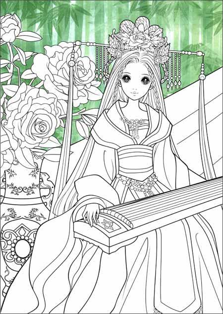 精灵公主服饰手绘
