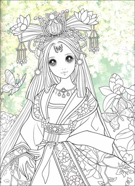 蜜桃俏公主涂色:古典公主