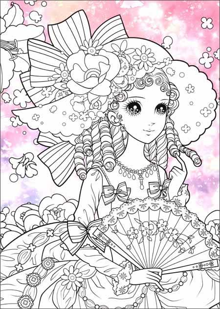 我的秘密花园-梦幻新娘 200个超可爱公主造型配合8个跨幅拉页设计,