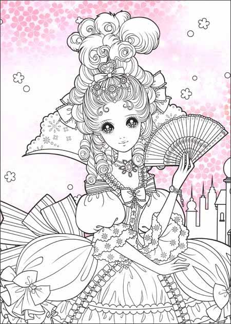 可爱公主手绘彩铅