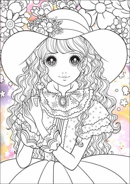 可爱小公主儿童画