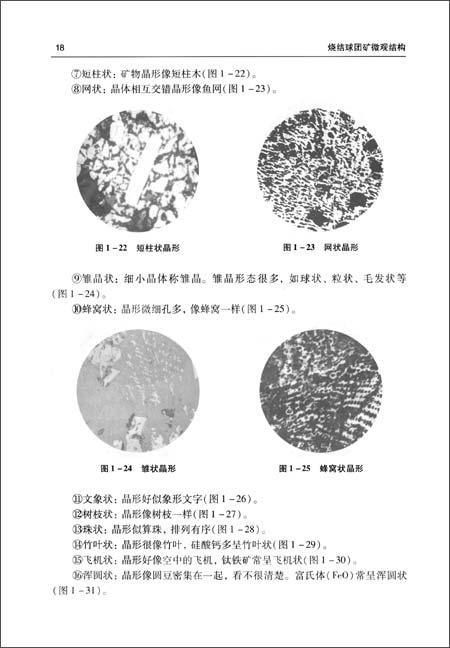 烧结球团矿微观结构