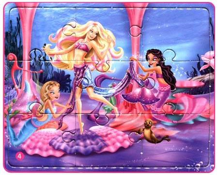 芭比公主故事拼图:芭比之美人鱼历险记\/海豚传