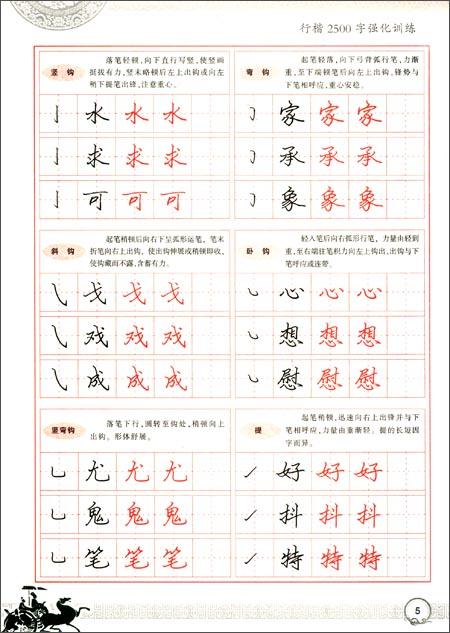 书法规范字基础训练 行楷2500字强化训练钢笔字帖 全新版图片