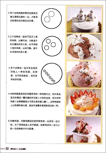 12生肖蛋糕裱花