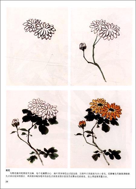 中国画葡萄叶子画法分享展示