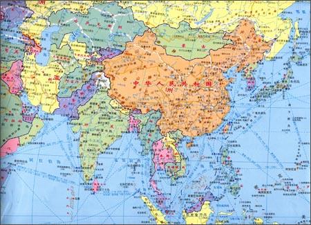《世界地图(1:28200000):双全开》 董京礼【摘要 书评
