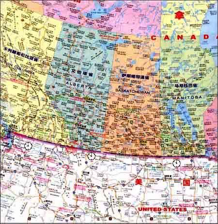 加拿大旅游地图