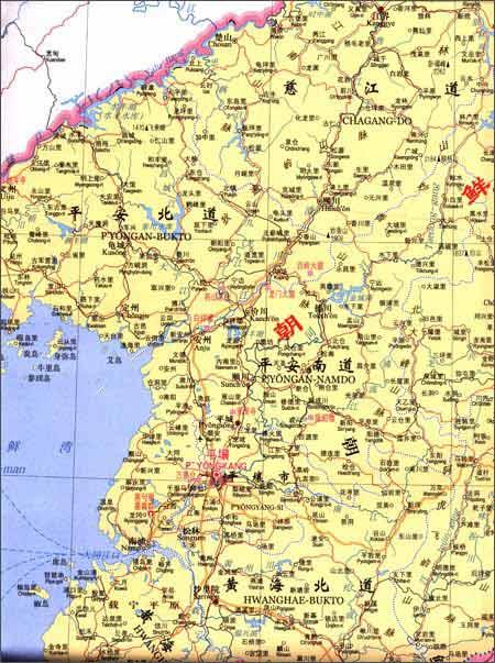 世界热点国家地图:朝鲜