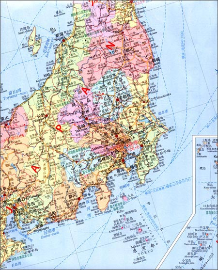 世界热点国家地图:日本
