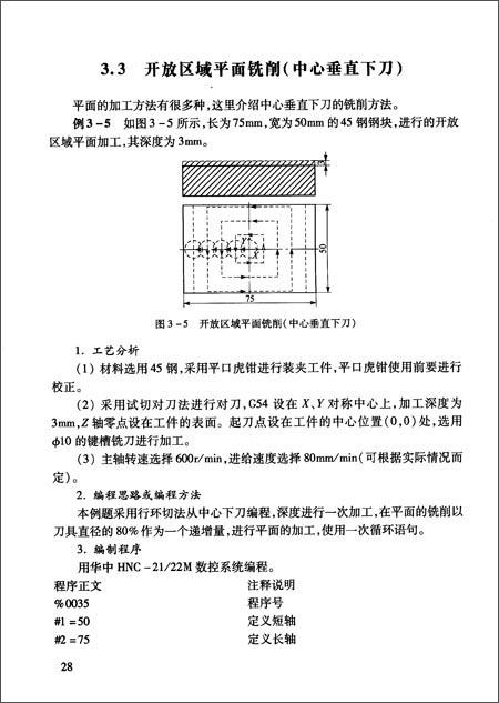 华中数控铣/加工中心宏程序v数控实例/杨旭清华同方图电源纸板电视图片