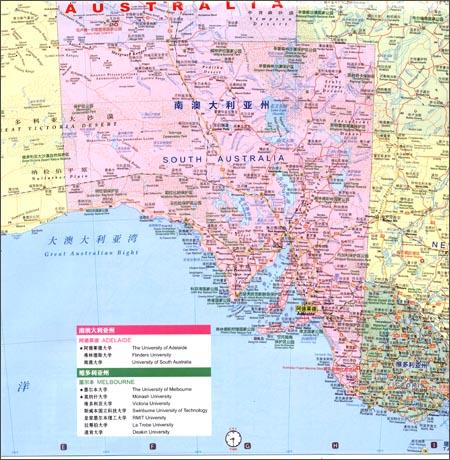 世界分国地图系列:澳大利亚旅游地图