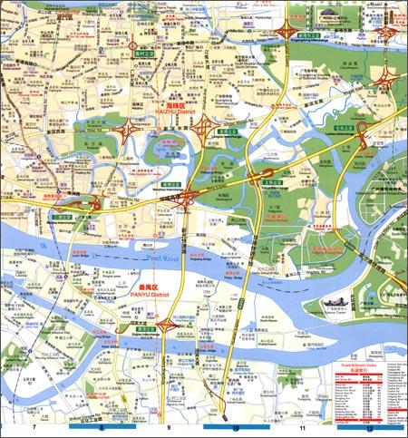 广州城市地图